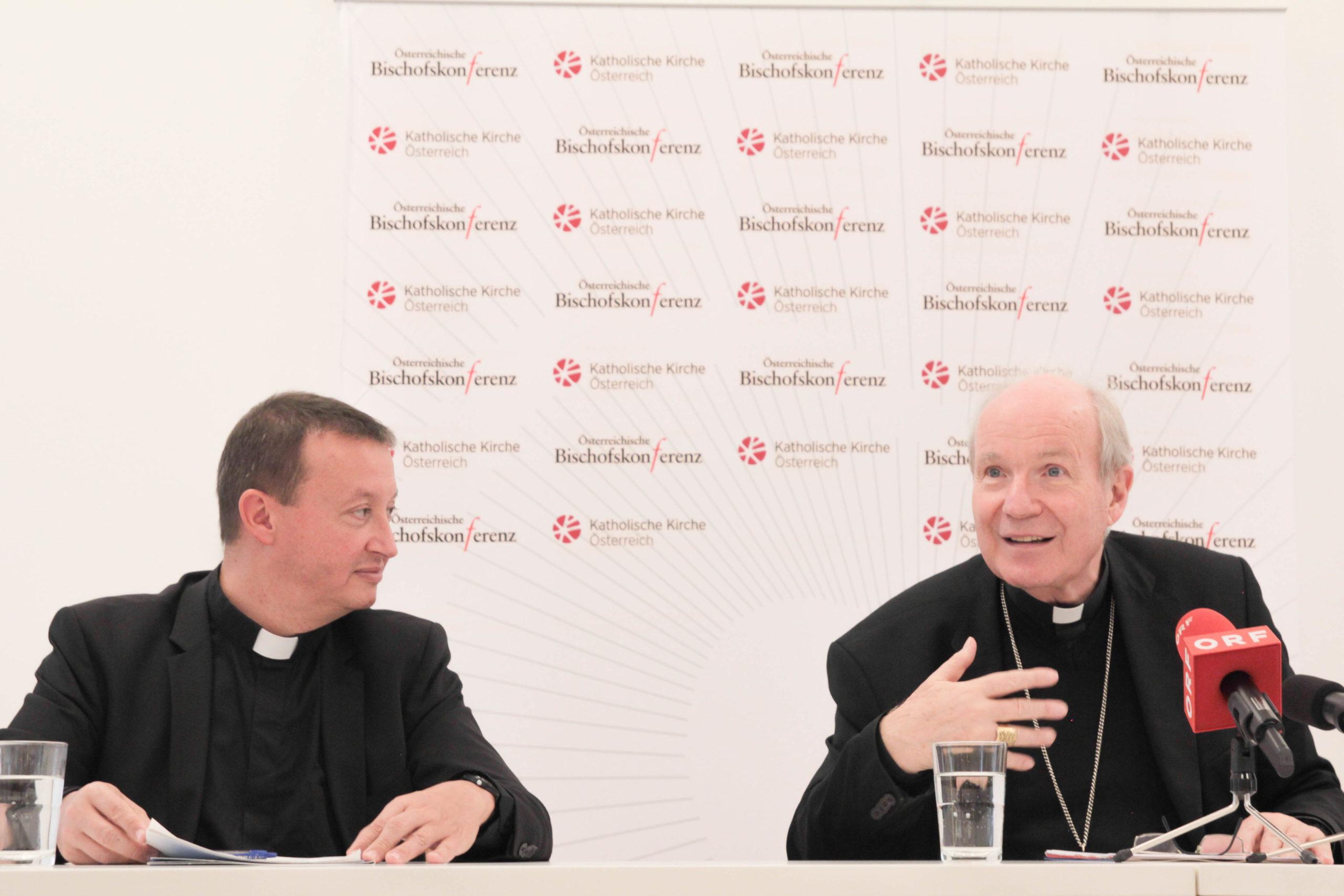 Peter Schipka, Generalsekretär der Österreichischen Bischofskonferenz, Kardinal Christoph Schönborn / Lukas Cioni/ Kathpresss